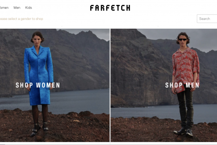 Farfetch homepage